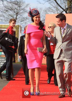 Rebecca Ferguson - The Grand National Aintree Festival 2015 - Day 2 - Ladies Day - Liverpool, United Kingdom -...