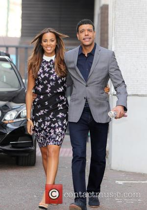 Rochelle Humes and Chris Kamara