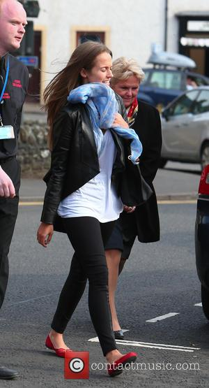 Kim Sears - Kim Sears arrives for the rehearsal prior to herwedding - Dunblane Scotland, United Kingdom - Friday 10th...