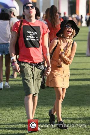 Sarah Hyland and Dominic Sherwood - Sarah Hyland and Dominic Sherwood at Coachella 2015 - Week 1 - Day 1...