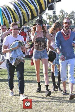Behati Prinsloo - Behati Prinsloo looks fashionable at Coachella Day 2 at Coachella - Los Angeles, California, United States -...