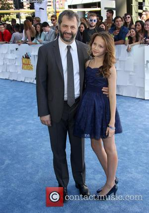 Judd Apatow and Iris Apatow