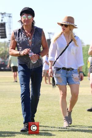 Richie Sambora and Orianthi Panagaris - Coachella 2015 - Week 1 - Day 3 - Celebrity Sightings and Performances at...