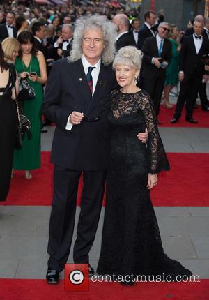Brian May and Anita Dobson - The Olivier Awards held at the Royal Opera House - Arrivals at The Royal...