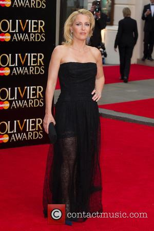Gillian Anderson - The Olivier Awards held at the Royal Opera House - Arrivals at Royal Opera House Covent Garden...