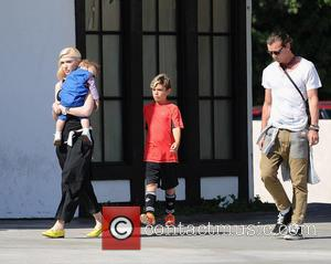Gwen Stefani, Gavin Rossdale, Kingston Rossdale and Apollo Rossdale