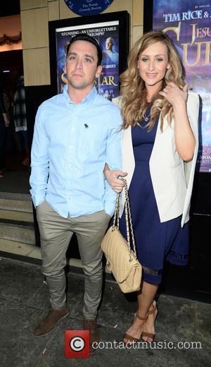 Catherine Tyldesley and Thomas Pitfield - Catherine Tyldesley and Thomas Pitfield arrive at the Palace Theatre Manchester for the Press...