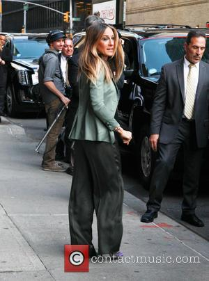 Sarah Jessica Parker - Celebrities attend the 'Late Show with David Letterman' in NewYork City - New York, New York,...