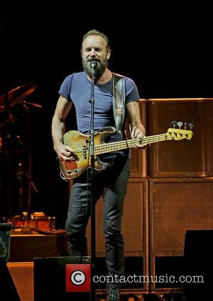 Sting and Gordon Sumner - Photographs of British singer songwriter Sting along with American musician Paul Simon as ther performed...