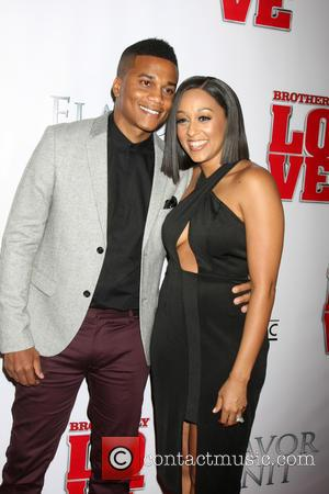 Cory Hardrict and Tia Mowry - Los Angeles premiere of 'Brotherly Love' - Arrivals at Silver Screen Theater at the...