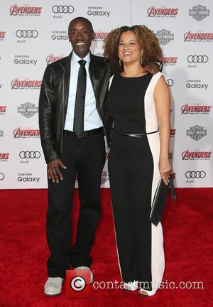 Don Cheadle and Bridgid Coulter - Shots of a host of stars as they attended the premiere of Marvel's