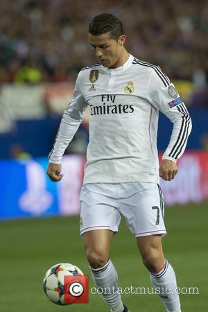 Cristiano Ronaldo - Atletico de Madrid v Real Madrid CF at the UEFA Champions League Quarter Final First Leg match...