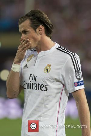 Gareth Bale - Atletico de Madrid v Real Madrid CF at the UEFA Champions League Quarter Final First Leg match...