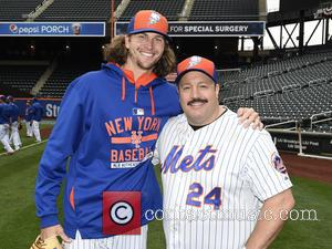 Kevin James and Jacob deGrom