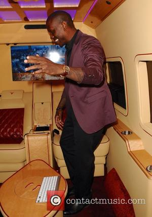 Tyrese Gibson - Tyrese Gibson leaves Mr Chow restaurant and invites the paparazzi inside his custom van at Beverly Hills,...