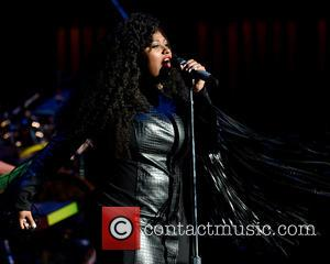 Jazmine Sullivan - Jazmine Sullivan performing onstage during her 'Reality Show Tour' at Fillmore Miami Beach Jackie Gleason Theater at...