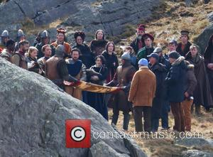 Guy Ritchie, Eric Bana and Poppy Delavingne - 'Knights of the Round Table:King Arthur' filming in Wales - Conwy, United...