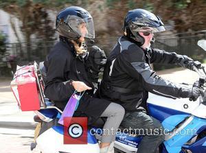 Amanda Holden - Amanda Holden stops for fans outside ITV Studios but her Rider pulls of before she gets all...