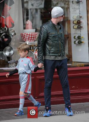 Chris Evans - Chris Evans out and about in Primrose Hill with his children - London, United Kingdom - Thursday...