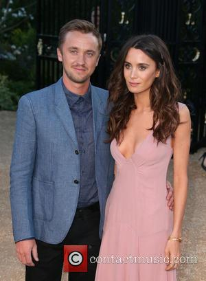 Tom Felton and Jade Olivia - Burberry 'London in Los Angeles' event at Griffith Observatory - Arrivals at Griffith Observatory...