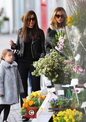 Abbey Clancy and Sophia Ruby - Pregnant Abbey Clancy and her daughter Sophia out with a friend in Hampstead -...