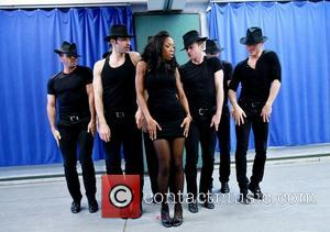 Brandy Norwood and cast members - Brandy Norwood rehearses for her role as Roxie Hart in the Broadway musical 'Chicago'...