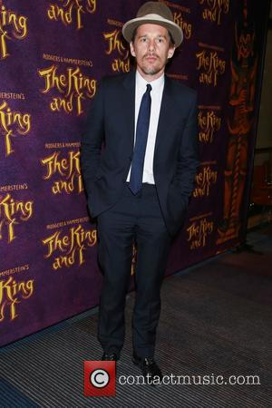 Ethan Hawke - Opening night after party for The King and I at the Vivian Beaumont Theatre - Arrivals. at...