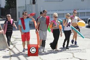 Kym Johnson, Robert Herjavec, Noah Galloway, Nastia Liukin, Mark Ballas, Willow Shields and Sharna Burgess