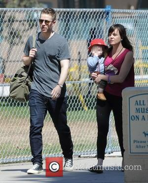 Josh Dallas and Oliver Dallas - Josh Dallas spends quality time with his son Oliver and his nanny at a...