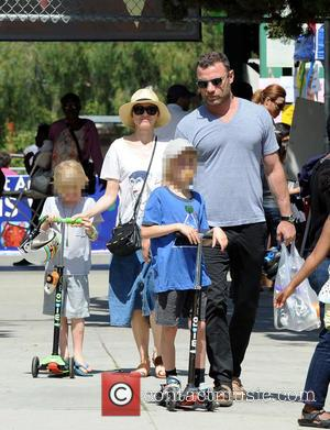 Naomi Watts, Liev Schreiber, Alexander and Samuel - Actress Naomi Watts accompanied by husband Liev Schreiber takes their two boys...