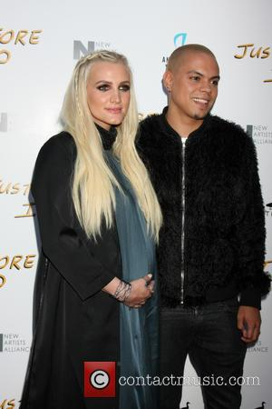 Ashlee Simpson and Evan Ross - Screening of 'Just Before I Go' held at ArcLight Hollywood - Arrivals at ArcLight...