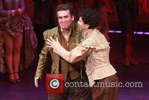 Brian d'Arcy James and John Cariani - Opening night for Something Rotten at the St. James Theatre - Curtain Call....