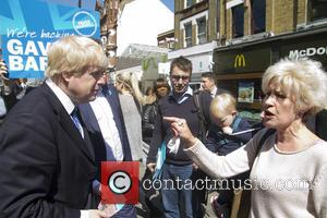 Boris Johnson - Boris Johnson on walkabout in the marginal seat of Croydon Central with Conservative candidate Gavin Barwell -...