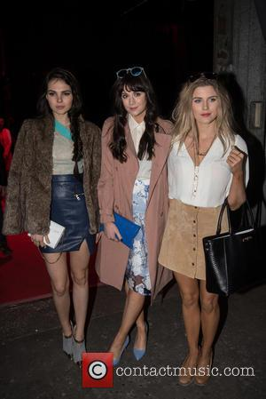 Lilah Parsons (C) and guests - Ferrari 488 GTB launch party held at the Old Sorting Office. - London, United...