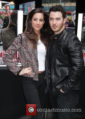 Kevin Jonas and Danielle Jonas - Kevin and Danielle Jonas help kick off National Lover's Day in New York City...