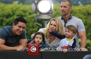 Melissa Joan Hart, Mark Wilkerson, Tucker Wilkerson, Mario Lopez and Dominic Lopez