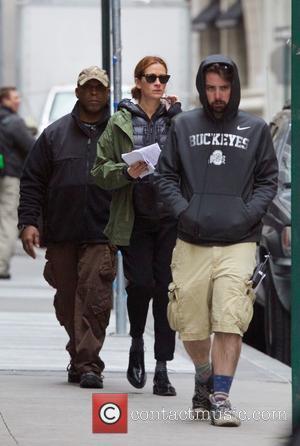 Julia Roberts - Set of 'Money Monster' in New York City - New York City, New York, United States -...
