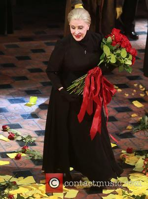Chita Rivera - Opening night for Broadway musical The Visit at the Lyceum Theatre - Curtain Call. at Lyceum Theatre,,...