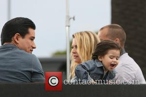 Mario Lopez, Dominic Lopez, Melissa Joan Hart and Mark Wilkerson