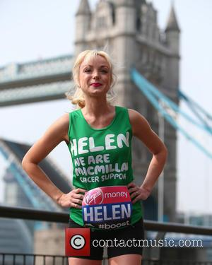 Helen George - Celebrity runners in the 35th London Marathon attend a photo call at the Tower Hotel at Tower...