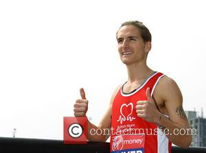Oliver Proudlock - Celebrity runners in the 35th London Marathon attend a photo call at the Tower Hotel at Tower...