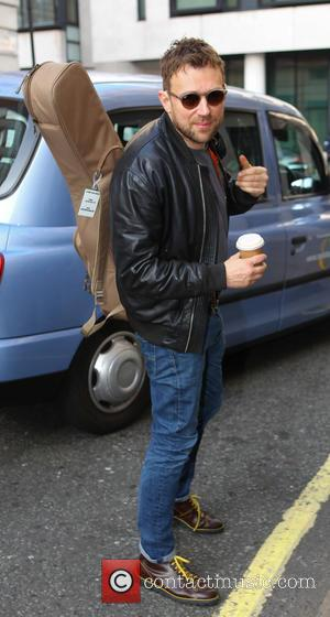 Blur and Damon Albarn - Celebrities at Radio 2 for The Chris Evans Breakfast Show at Radio 2 - London,...