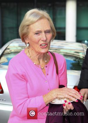 Mary Berry - Celebrities at Radio 2 for The Chris Evans Breakfast Show at Radio 2 - London, United Kingdom...
