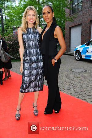 Ursula Karven and Barbara Becker - Fashion Charity 2015 in aid of 'RTL - Wir helfen Kindern' at Union Halle...