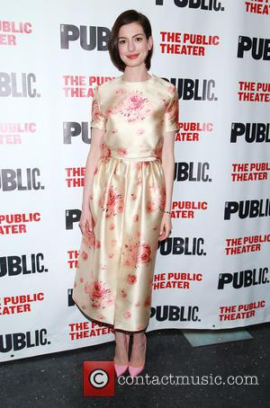 Anne Hathaway - After party celebration for Grounded at the Public Theater - Arrivals. at The Public Theater, - New...