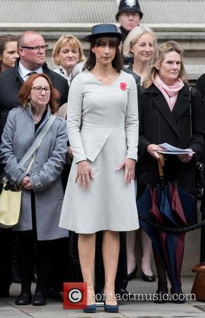 Samantha Cameron - Centenary of the Gallipoli Campaign service held at the Cenotaph in Central London - London, United Kingdom...
