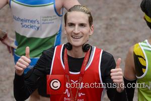 Oliver Proudlock - Virgin Money London Marathon 2015 - Celebrities at the finish line - London, United Kingdom - Sunday...