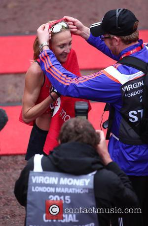 Paula Radcliffe - Paula Radcliffe finishes her Virgin Money London Marathon 2015 for the very last time - London, United...