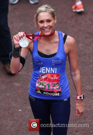 Jenni Falconer - Virgin Money London Marathon 2015 - London, United Kingdom - Sunday 26th April 2015
