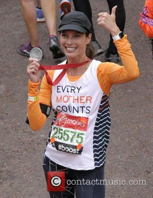 Christy Turlington - Virgin Money London Marathon 2015 at The Mall - London, United Kingdom - Sunday 26th April 2015